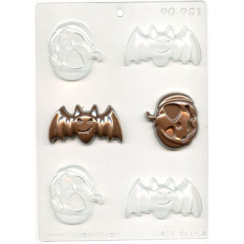 BATS & PUMPKINS Chocolate Mould