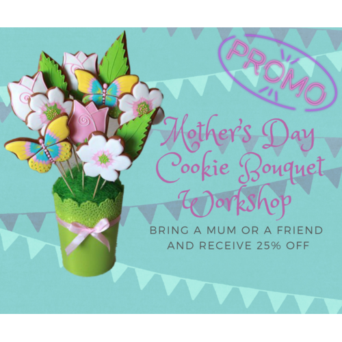 Mother's Day Cookie Bouquet Workshop