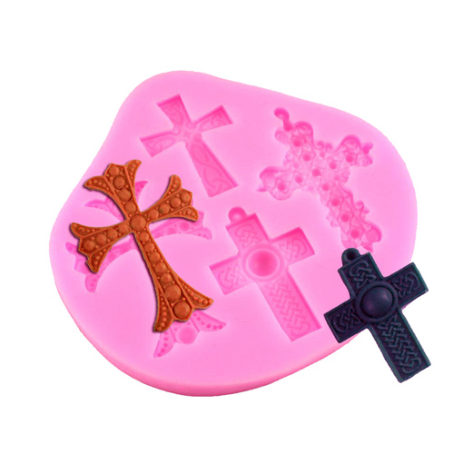 Cross Set of 4 Silicone Mould